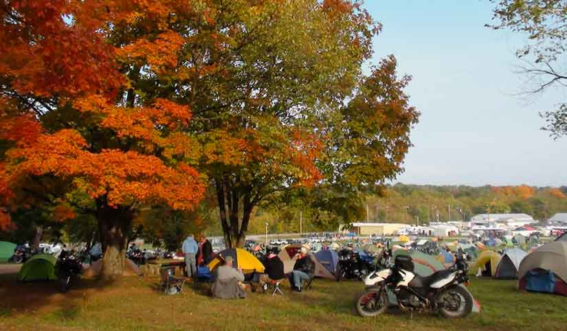 Falling Leaf Rally is for Motorcycle Camping.