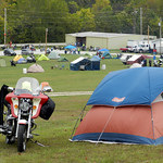 Motorcycle camping at the Falling Leaf Rally