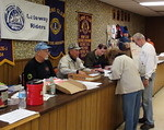 Registration is quick and easy at the Falling Leaf Rally