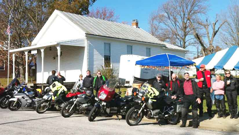 Gateway Riders club ride to Ruma and a sausage dinner.